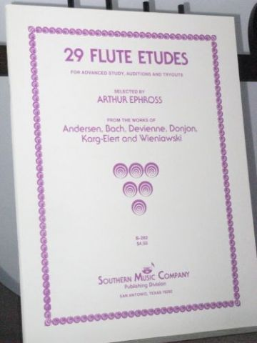 29 Flute Studies for Advanced Study, Auditions and Tryouts ed Ephross A